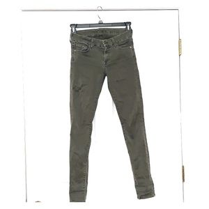 7 for All Mankind Skinny Jeans, olive green